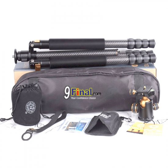 QZSD Q968C carbon fiber Portable Tripod with Ball Head Portable Detachable Changeable Traveling - คลิ๊กที่รูป เพื่อปิดหน้าต่าง